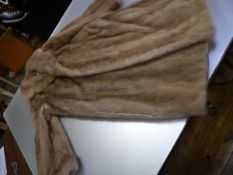 A vintage blonde mink three quarter length lady's coat, with label for the Dominion Fur Company