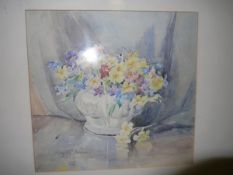 May Marshall Brown R.S.W. (Scottish 1887-1968), A Pair of Floral Still Lifes, each signed and