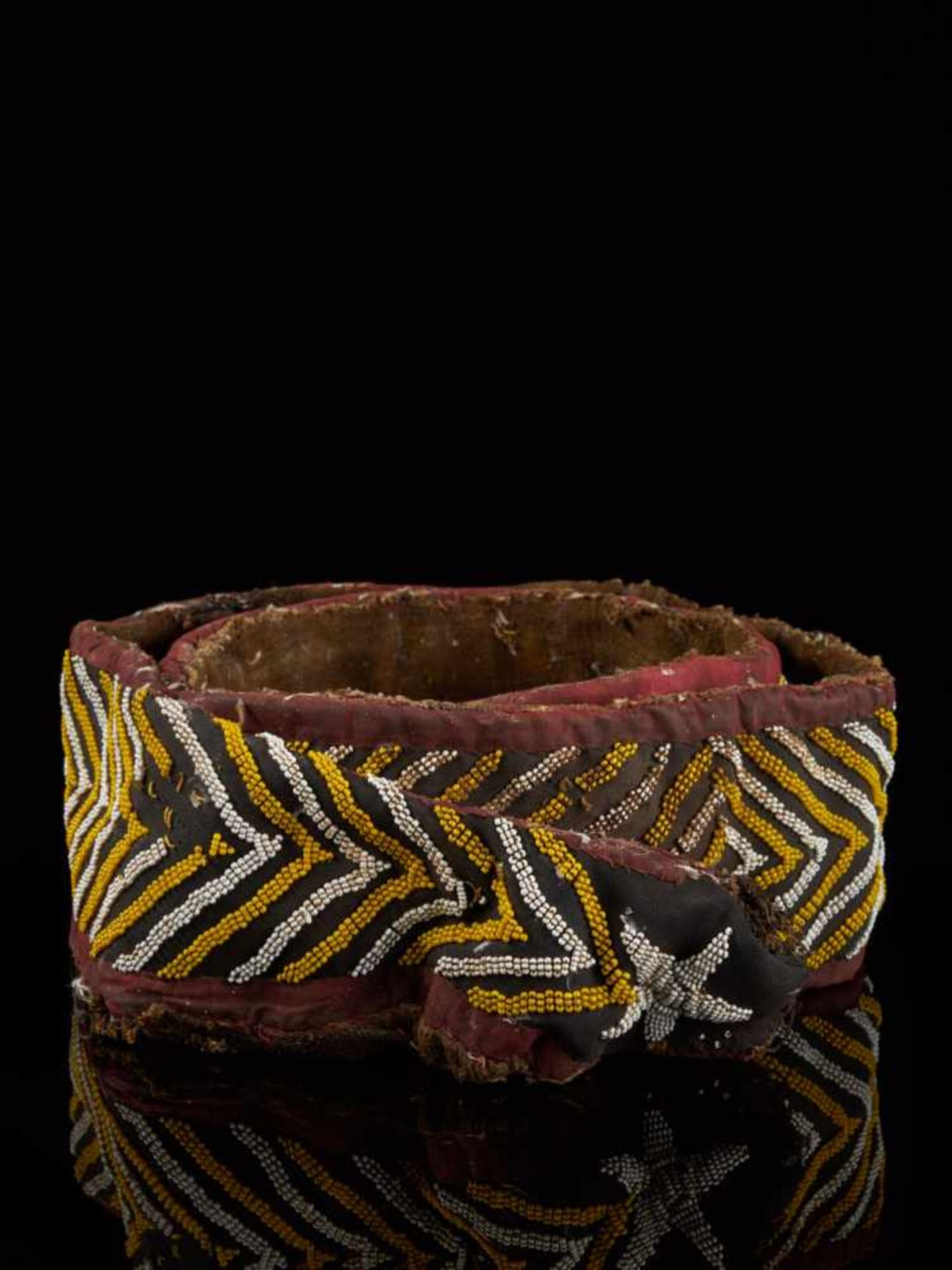 Beaded Double Headed Snake Belt - Tribal ArtThe double headed snake is the symbol of the Bamum