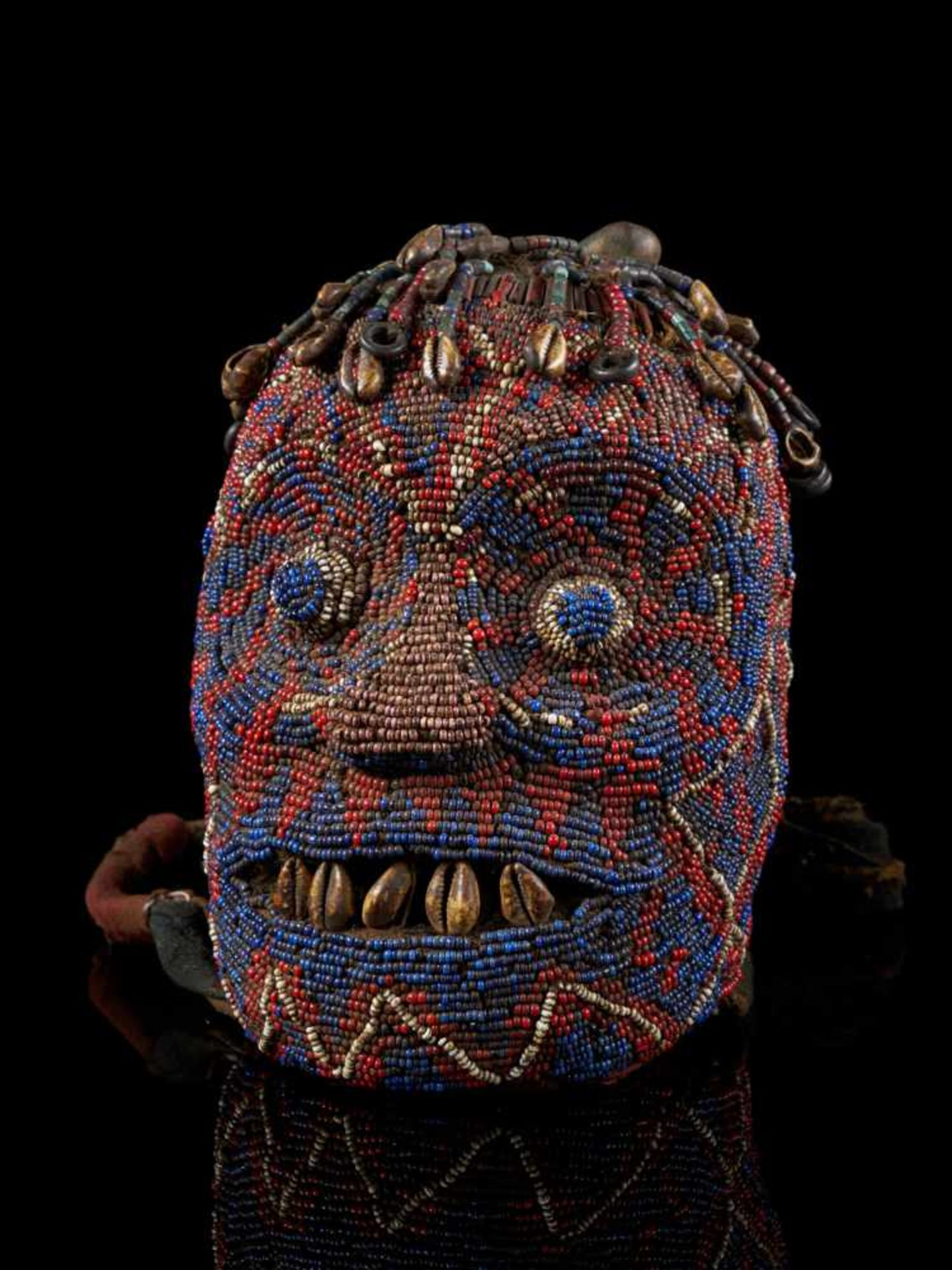 "Beaded Ceremonial Head ""Adwonzen"", Grassland People, Cameroon - Tribal ArtBeaded heads such as this,"