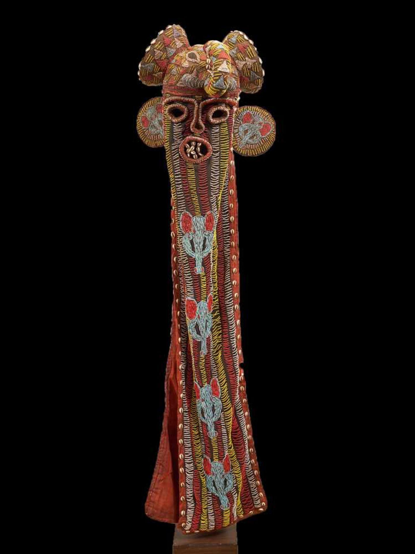 Beaded Elephant Mask, Grassland People, Cameroon - Tribal ArtDescription: The mask has been