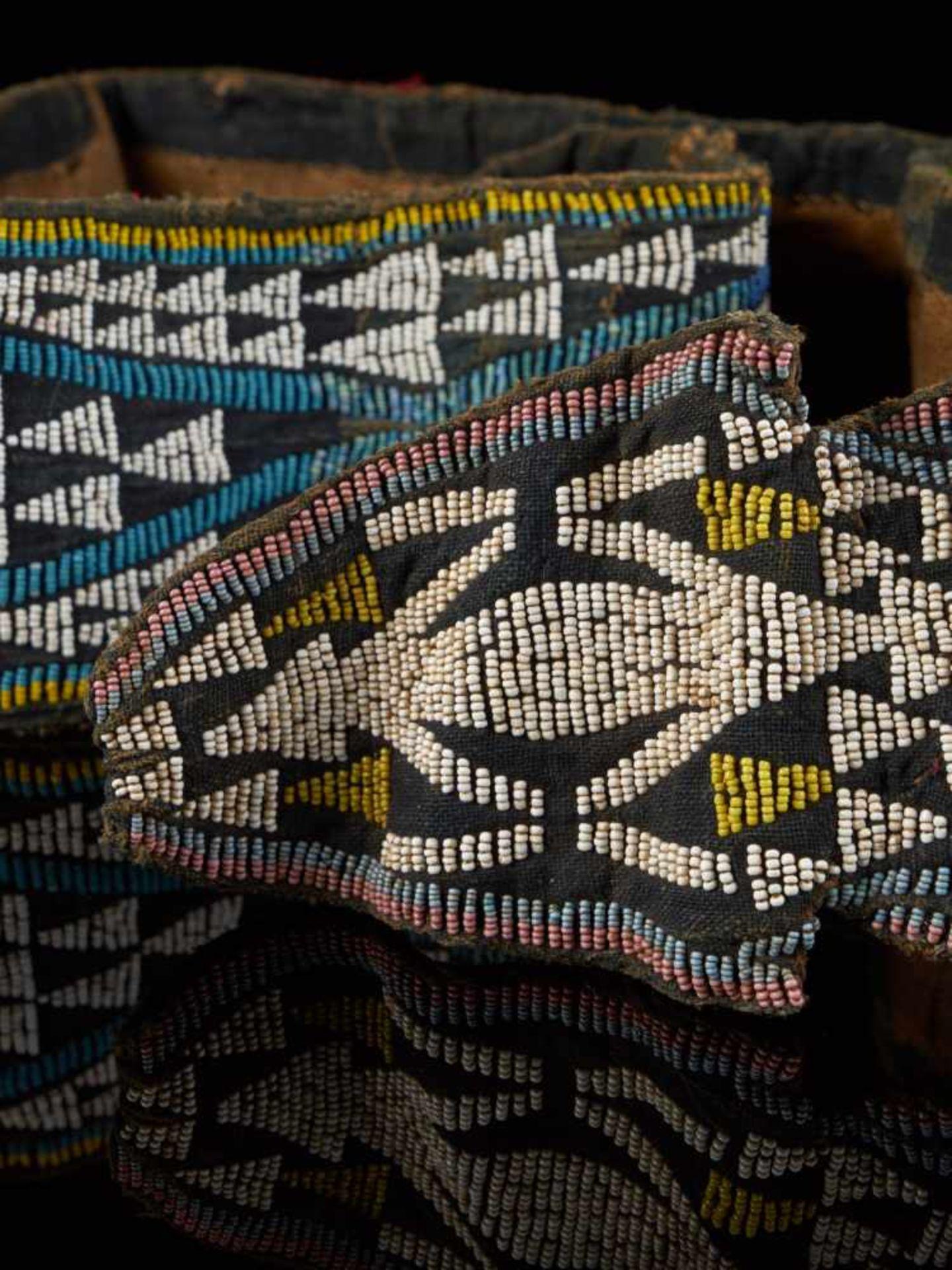 Beaded Double Headed Snake Belt - Tribal ArtThe double headed snake is the symbol of the Bamum - Bild 4 aus 6