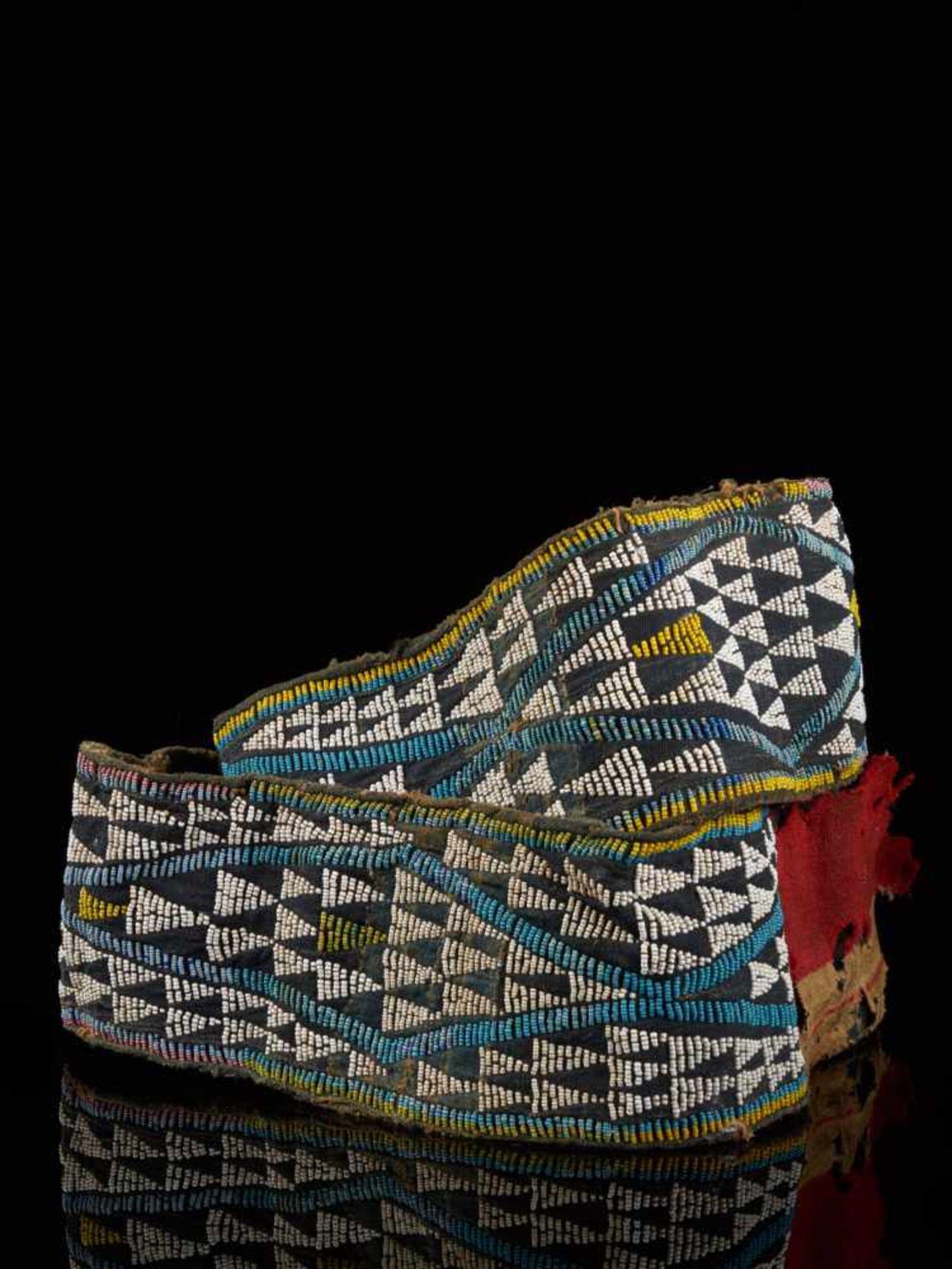 Beaded Double Headed Snake Belt - Tribal ArtThe double headed snake is the symbol of the Bamum