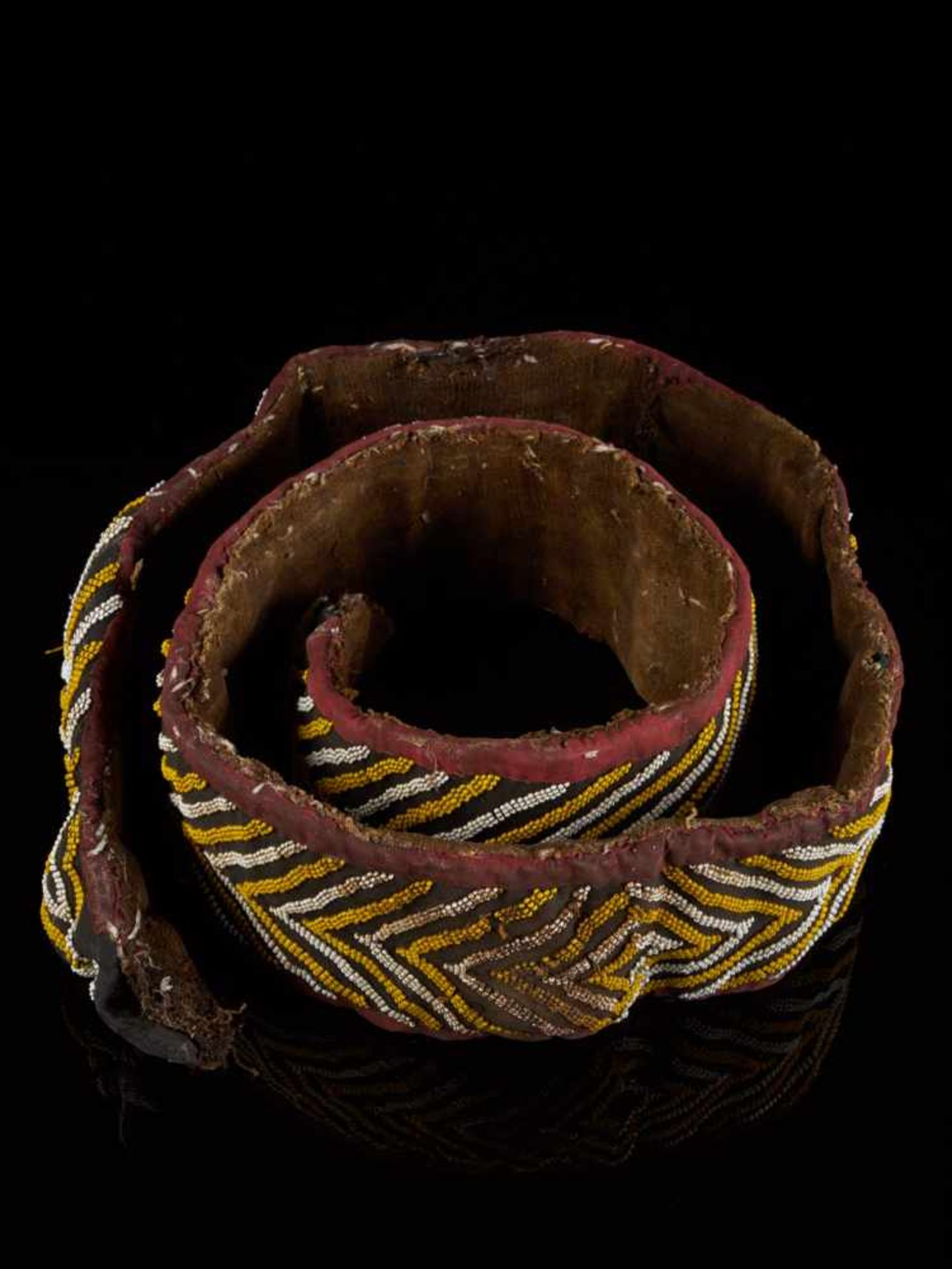 Beaded Double Headed Snake Belt - Tribal ArtThe double headed snake is the symbol of the Bamum - Bild 3 aus 5