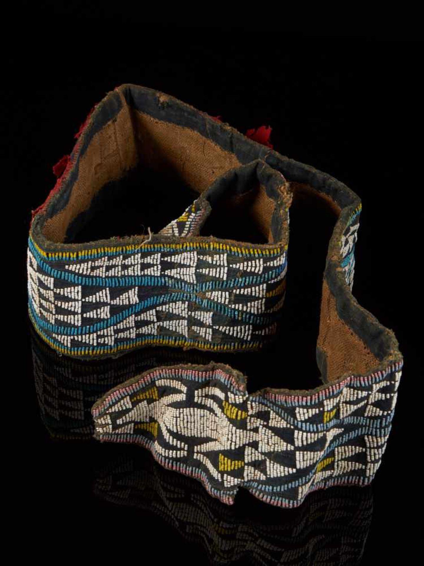 Beaded Double Headed Snake Belt - Tribal ArtThe double headed snake is the symbol of the Bamum - Bild 3 aus 6