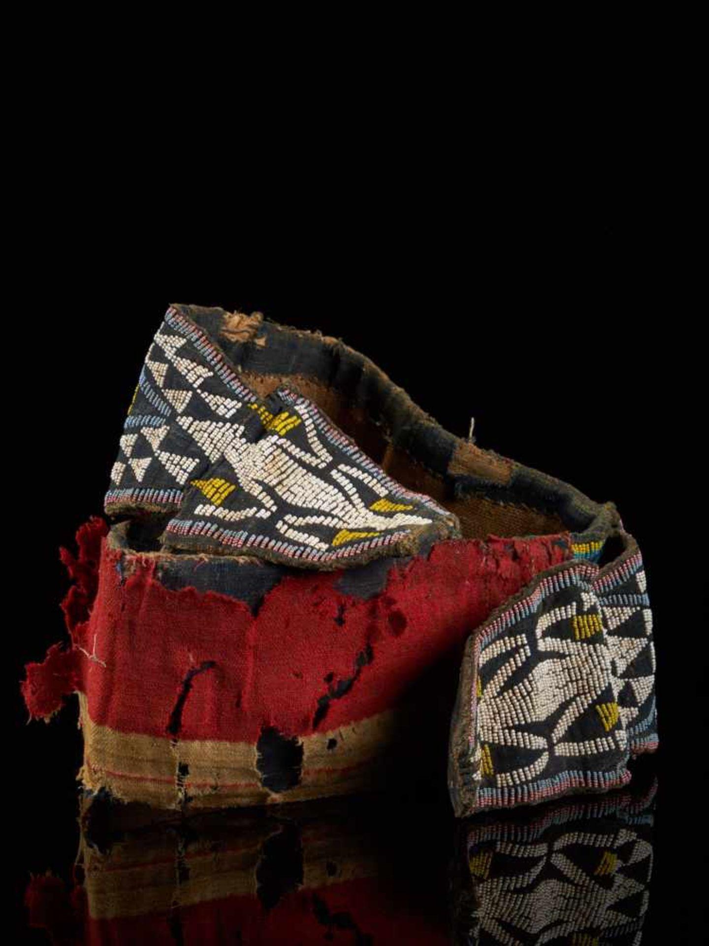 Beaded Double Headed Snake Belt - Tribal ArtThe double headed snake is the symbol of the Bamum - Bild 2 aus 6