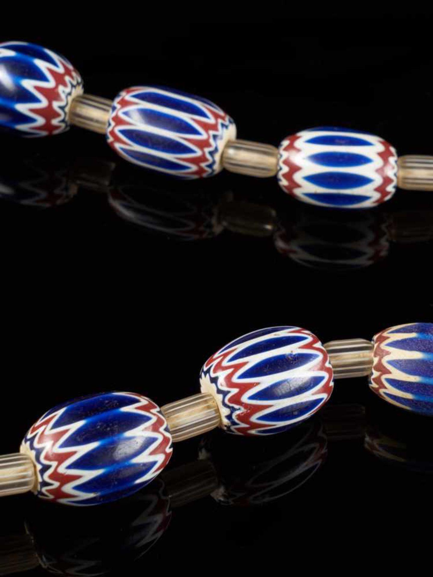 Traditional Bamileke 7 Layer Chevron Trade Bead Necklace Of 15 Beads. - Tribal ArtChevrons beads are - Bild 3 aus 5