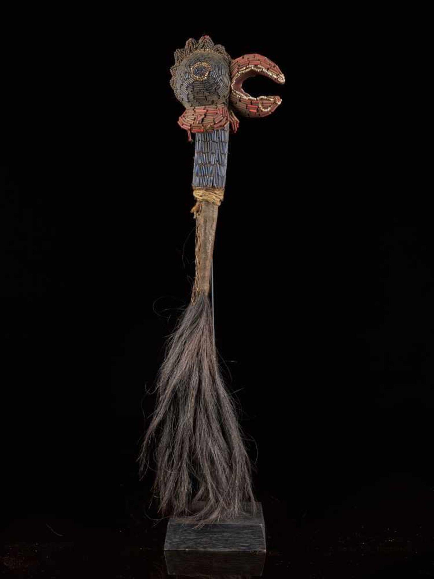 Beaded Flywhisk - Rooster - Tribal ArtThe Royal Fly Whisks (ethnic names: see leng koko or beuka)