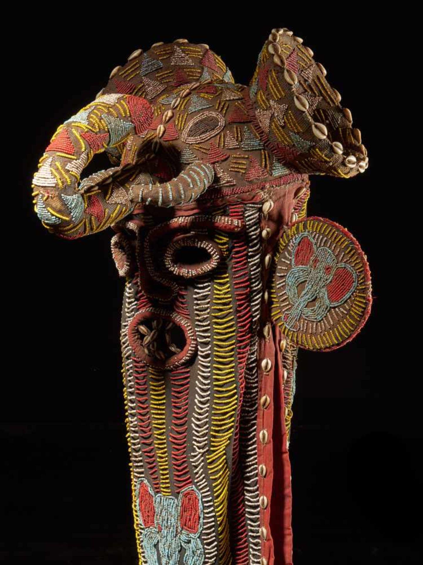 Beaded Elephant Mask, Grassland People, Cameroon - Tribal ArtDescription: The mask has been - Bild 3 aus 10