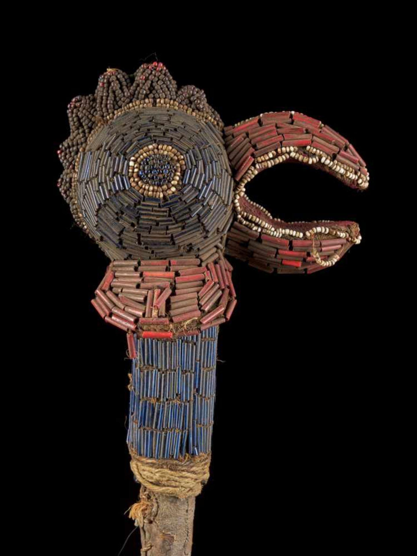 Beaded Flywhisk - Rooster - Tribal ArtThe Royal Fly Whisks (ethnic names: see leng koko or beuka) - Bild 8 aus 8