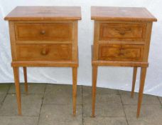 Paar elegante Nachttische im Empire Stil. H. je ca. 72 cm.Pair of elegant bed tables in the style of