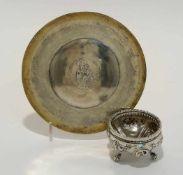 Gewürzschälchen / Patene Venedig, 18. Jh. Silber, Patene teilvergoldet. Das Gewürzschälchen