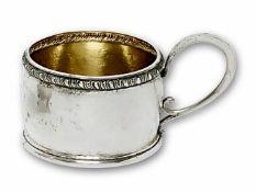 Sechs Teeglashalter München, M. T. Wetzlar, um 1930 Silber, innen vergoldet. Martellierte, leicht