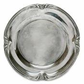 Teller Frankreich (Paris), nach 1838 Silber. Vierpassig geschweifter Rand mit stilisiertem Blatt-