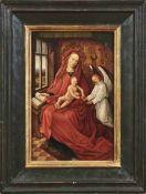 Memling, Hans - Meisterliche Kopie des 18./19. Jh. nach Madonna mit Kind und Engel Traditionelle und