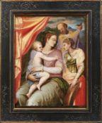 Sacra Conversazione Wohl Italien, 17. Jh. Die heilige Familie mit Katharina in südlicher