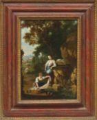 Waterschoot, Heinrich van Wäscherinnen an einer Felsenquelle am Waldrand (Antwerpen geb.-1748 od.