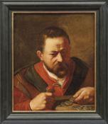 Niederländischer Portraitmaler des 17. Jahrhunderts Bildnis eines Geldwechslers Öl/Lwd., doubl. 50,5