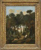 Rösel von Rosenhof, Franz Waldlandschaft (Wien 1626-1700 Nürnberg) Jäger im Gespräch mit einem