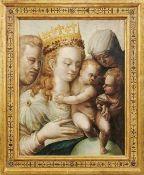 Bologneser Schule oder Schule von Parma Die heilige Familie mit Elisabeth und dem Johannesknaben -