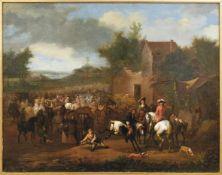 Niederländischer Maler des 17. Jahrhunderts, Kreis des Jan Wyck Reitergesellschaft bei der Rast