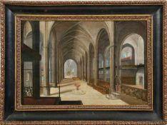 Juvenel, Friedrich Kircheninterieur mit Taufbrunnen (Nürnberg 1609-1647 ebd.) Öl/Holz,