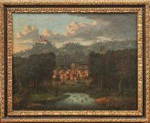 Bemmel, Johann Christoph von (Attrib.) Blick von Seehof nach Bamberg (Nürnberg 1717-1788 Bamberg)