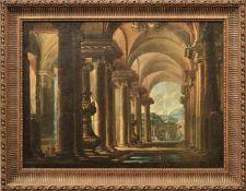 Capriccio mit Pantheon und Ruinen in Rom Italien, 18. Jh. Öl/Lwd., doubl. 80 x 110 cm. - Dieses