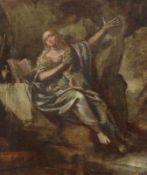 Die büßende Maria Magdalena in einer Grotte 18. Jh. Öl/Holz. 22,5 x 19,5 cm; unger.