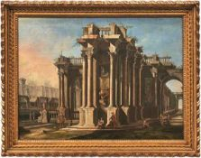 Greco, Gennaro (gen. il Mascacotta) Antikes Architekturcapriccio mit Ruinen und Personen (1663-1714)
