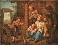 Seekatz, Johann Conrad (Attrib.) Pendants Genreszenen mit Hausierern (Grünstadt 1719-1768 Darmstadt)