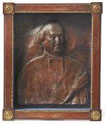 Kleriker Um 1800 Fein ausgeführte Darstellung eines Theologen mit Beffchen, Brustkreuz und Orden