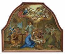 Anbetung des Jesuskindes durch die Hirten Süddeutschland, wohl Augsburg, 18. Jh. Große, sehr fein