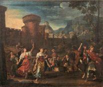Fisches, Isaak d. Ä. Die Rückkehr des Jephta (1630-1706) Öl/Lwd., doubl. 92 x 108 cm; unger. - Vor
