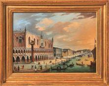 Hofmeister, Carl Ludwig Bilderuhr mit Ansicht des Palazzo Ducale in Venedig (Wien 1790-1843 ebd.)