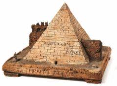 Modell der Pyramide des Cestinus in Rom Wohl 18. Jh. - In der Art des Antonio Chichi Auf