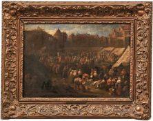 Helmbreker, Dirck Theodor Vielfigurige Marktszene in einer holländischen Stadt (Haarlem 1633-1696