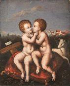 Jesus und Johannes als Kinder, sich umarmend Deutsche od. Flämische Schule - 1. H. 16.