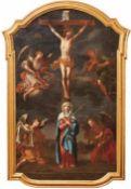 Kreuzigung Christi Um 1690-1720 Golgothadarstellung mit Christus am Kreuz und Mater Dolorosa am