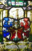 Fensterbild Nürnberger Meister von 1622 Hochrechteckige Darstellung mit Wappen von Johann