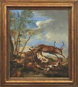 Ruthart, Carl Borromeus Andreas - Umkreis Hirschjagd (Danzig 1630-1703 L'Aquila) Landschaft mit