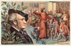 Seltene Postkartensammlung mit Wagner-Motiven Um 1900 Ca. 767 Stück in zwölf Alben; teils