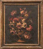 Satz von drei Blumenstillleben Neapolitanische Schule um 1700 Öl/Lwd. 43 x 36 cm. - Dieses Los wurde