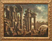 Spera, Clemente Architekturcapriccio (Novara um 1661-1742 Mailand) Steinmetze beim Wiederaufbau