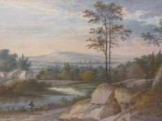 Bemmel, Johann Christoph von (Attrib.)Kleine Flusslandschaft mit Passanten(Nürnberg 1717-1788