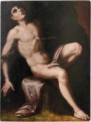 Das Martyrium des heiligen SebastianItalienische Schule, 1. H. 17. Jh.Öl/Holz. 97 x 72,5 cm;