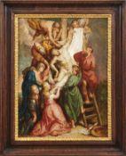 KreuzabnahmeFlämische Schule des 17. JahrhundertsVielfigurige, bewegte Szenerie in Anlehnung an