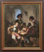 Hoevenaar, Willem PieterKarten spielende Soldaten in einer Stube(Utrecht 1808-1863 ebd.) Öl/Lwd.,