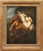 Perseus befreit AndromedaWiener KlassizistÖl/Lwd., doubl. 60,5 x 49 cm. - Perseus ist hier mit dem