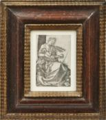 Beham, Hans SebaldDie Madonna mit der Birne(Nürnberg 1500-1550 Frankfurt am Main) Kupferstich.